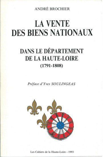 Cahiers de la Haute-Loire. Année 1993. Couverture de Brochier